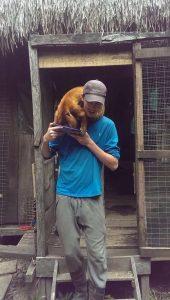 Ed feeding howler monkey Biton