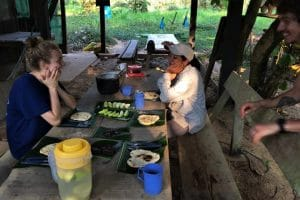 Breakfast in the Bolivian Amazon