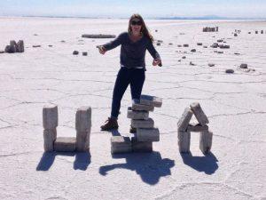 HIA from Sophia on the Bolivian Slat Flats