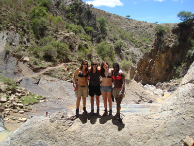 Bolivia Girls at the Siete Cascadas